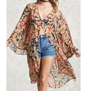 Other - Contemporary floral cardigan